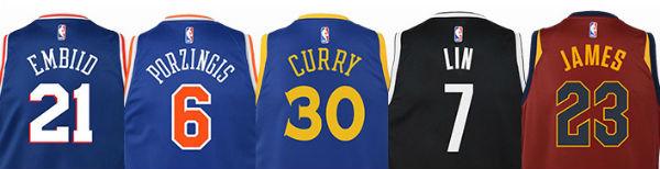 Camisetas NBA