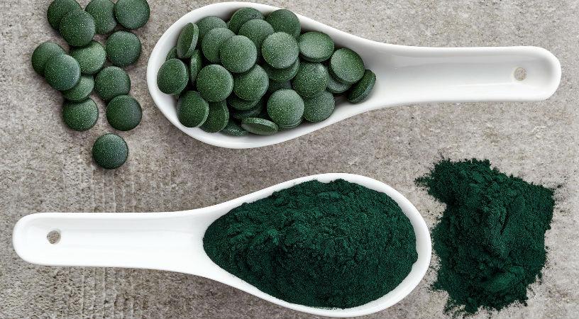 Alga espirulina o alga Chlorella