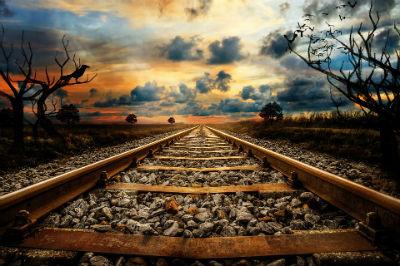 Uso del tren para viajar