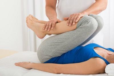 Sesion de fisioterapia